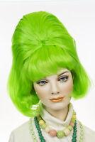 Green Fun Color Medium Short Wavy Straight Costume Fun Color Wigs