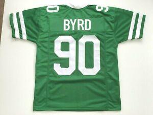 UNSIGNED CUSTOM Sewn Stitched Dennis Byrd Green Jersey - M, L, XL, 2XL