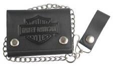 Harley Davidson Mens Bar & Shield Embossed Trucker Medium Wallet