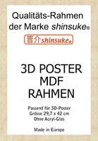 Wechselrahmen für A3-3D-Poster 3cm MDF Holzfaserwerkstoff 30x42cm Buche