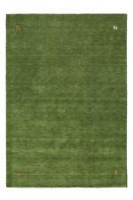 GABBEH Uni Tapis tissé à la main 100% laine souple d'étanchéité Vert 120x170cm