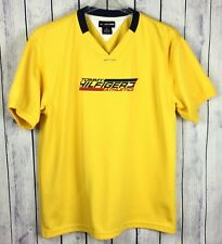 Tommy Hilfiger Athletics Mens Shirt XL Yellow Jersey Flag Spellout Logo 11A15