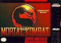 MORTAL KOMBAT SNES SUPER NINTENDO GAME COSMETIC WEAR