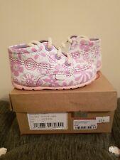 Kickers Girls Pink Flower First Boots - Size 3 / EU 19