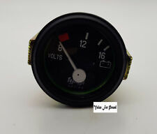 52MM VOLTAGE METER 8-12-16 12V WITH BLACK BEZZLE