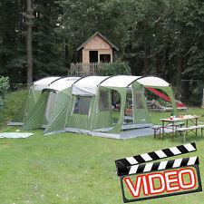 skandika Saturn 6 Person/Man Family Tunnel Tent Sewn-in Groundsheet Green New