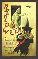 Halloween Ghosts and Witches, Unused Postcard
