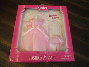 Barbie & Kelly 1996 Fashion Avenue Matchin' Styles Pink Dresses Purses Shoes NIP