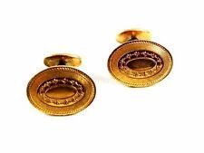 Edwardian / Deco True Vintage Goldtone Cufflinks Unmarked 102414