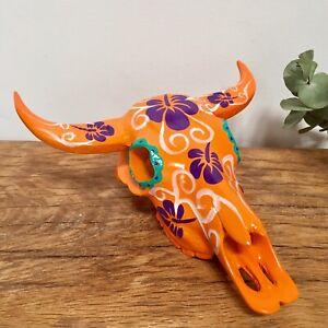 Cow Skull Ornament Ceramic Height 11cm