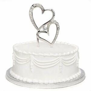 Sparkling Love Cake Pick with Rhinestones