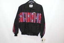 Vintage 90s Mo Betta Mens Large Navajo Print Western Cowboy Bomber Jacket Black