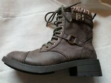 NEW Rocketdog Antique Brown Lace Up Thunder Biker Boots - Size 8 (Euro 41)