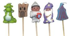 Medieval Characters  Mini Toothpick Candles - set of 5