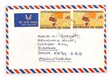 XX28 1980s ZAIRE *Kisangani* Commercial Airmail AFRICA MAPS Kinshasa Exhibition