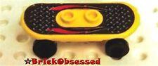 LEGO Minifig SKATEBOARD Yellow w Lightning Pattern Set 6734 Island Xtreme Stunts