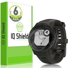 6x IQ Shield LIQuidSkin Ultra Clear Film Screen Protector for Garmin Instinct