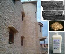 4 Klinker Gießformen 310 +Trennmittel + PP Faser für Beton u. Gips Steine gießen