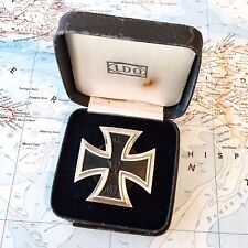 WWI GERMAN 1914 IRON CROSS MEDAL 1ST CLASS SCREW-BACK CASE THIRD REICH MADE WWII