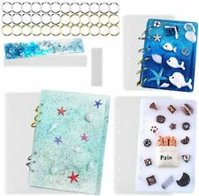 DIY Epoxy Resin Notebook Cover Silicone Molds A5/A6/A7 36 Rings+2 Bookmark Molds