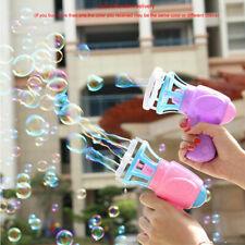 3IN1 Bubble Blower Fan Machine Toy Kids Soap Water Bubble Gun Outdoor Toys