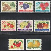 Romania 1963 MNH Mi 2176-2183 Sc 1567-1574 Fruits **  Walnuts,plums,Peaches