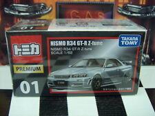 TOMICA PREMIUM #01 NISMO R34 GT-R-Z-tune 1/62 SCALE NEW IN BOX