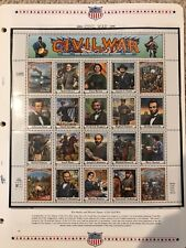 White Ace Civil War Specialty Classic Stamp album pages New - with stamps!