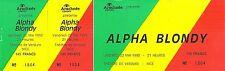 RARE / TICKET BILLET DE CONCERT - ALPHA BLONDY : LIVE A NICE MAI 1992