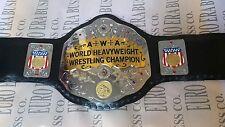 Replica Wrestling Championship Belt, AWA Champion Belt Adult Size Metal Plates