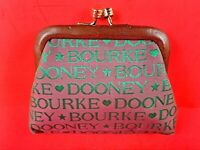 Rare Vintage Dooney & Bourke Kiss Lock Full Logo Coin Purse