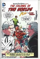 THE COLONEL OF TWO WORLDS #1 FLASH GREEN LANTERN  KFC PROMO COMIC SIGNED SCARCE