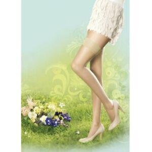 Pretty Polly Naturals 8 Denier Hold Ups Lycra Stockings Sandal Toe Small