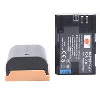 DSTE 2PCS LP-E6 LP-E6N Rechargeable Battery For Canon 6D 5D 7D Mark III IV 80D