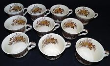 Mason's England Ascot 10 Punch Cups Brown Multi Colored