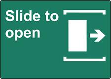 Slide To Open Door Right Business Sign Window Door Adhesive Vinyl Sign Decal