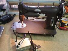 Vintage White Rotary Sewing Machine 43-14987 - Runs, Bobbin & Holder, Good Light