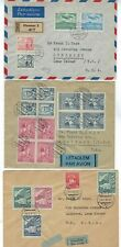 Three 1946-47 Czechoslovakia Airmail to Lynbrook NY Olomouc, Sobotka, Brno