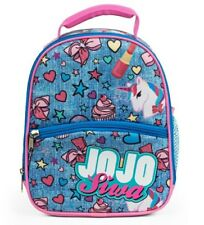 JOJO SIWA Lunch Bag Bow Unicorn Cupcake Lunchbox Soft Tote School Backpack Box