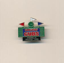 Chicago Cubs Scoreboard Script Logo MLB Baseball Pin