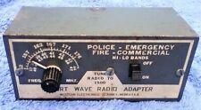 Short Wave Radio Adapter Western Electronics / Police - Fire - Emergency