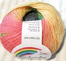 Rainbow Gradiente De Encaje Peso hilado de acrílico 50g