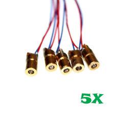5pcs 650nm 6mm 5V 5mW Red Laser Dot Diode Module US