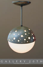 MID CENTURY MODERN ATOMIC HANGING LAMP! Space Age Sconce Sputnik Ufo 50s Vtg 60s