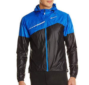 SUGOI Run For Cover Cycling Jacket Mens Black/Blue Size UK M *REF170