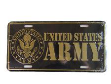 "United States U.S. Army Seal Crest Eagle Black 6""x12"" Aluminum License Plate Tag"