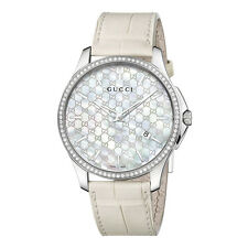 GUCCI G-TIMELESS SLIM 80 diamante Donna Watch ya126306-RRP £ 2750-NUOVO