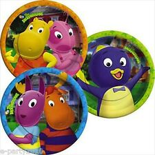 BACKYARDIGANS 3 Design SMALL PAPER PLATES (8) ~ Birthday Party Supplies Cake