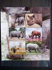Wildtiere 06 wild animals wildlife Nashörner rhinos Fauna postfrisch ** MNH