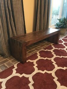 Wooden Bench Modern Dining Entry Hallway Lobby Salon Contemporary Waiting Room